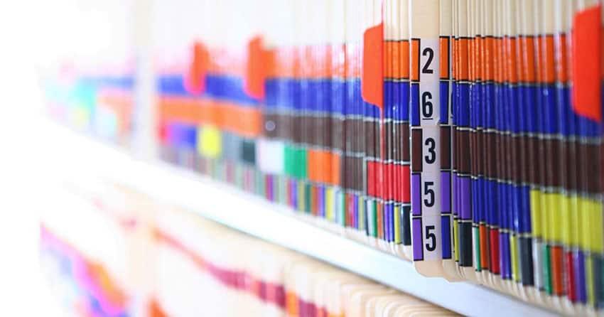 Medical Reports on Shelf